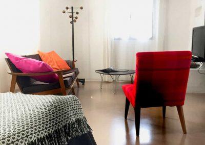 Chambre d'hôtes Cocoon, coin salon, Metafort, entre Luberon, Vaucluse en Provence