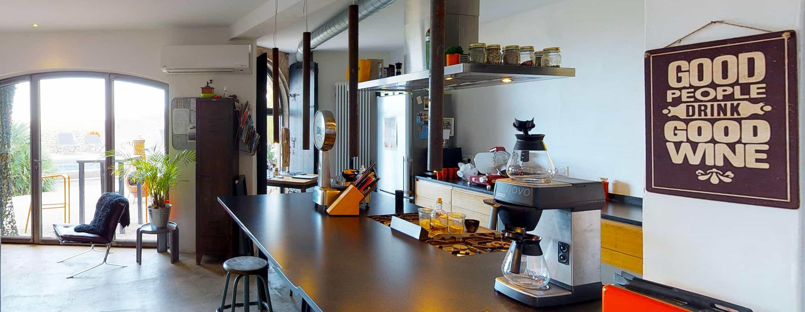 Cuisine de la table d'hôte du Metafort dans le Luberon